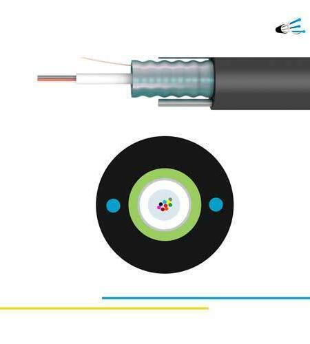 OM1 6 fibras Cable Monotubo Armado